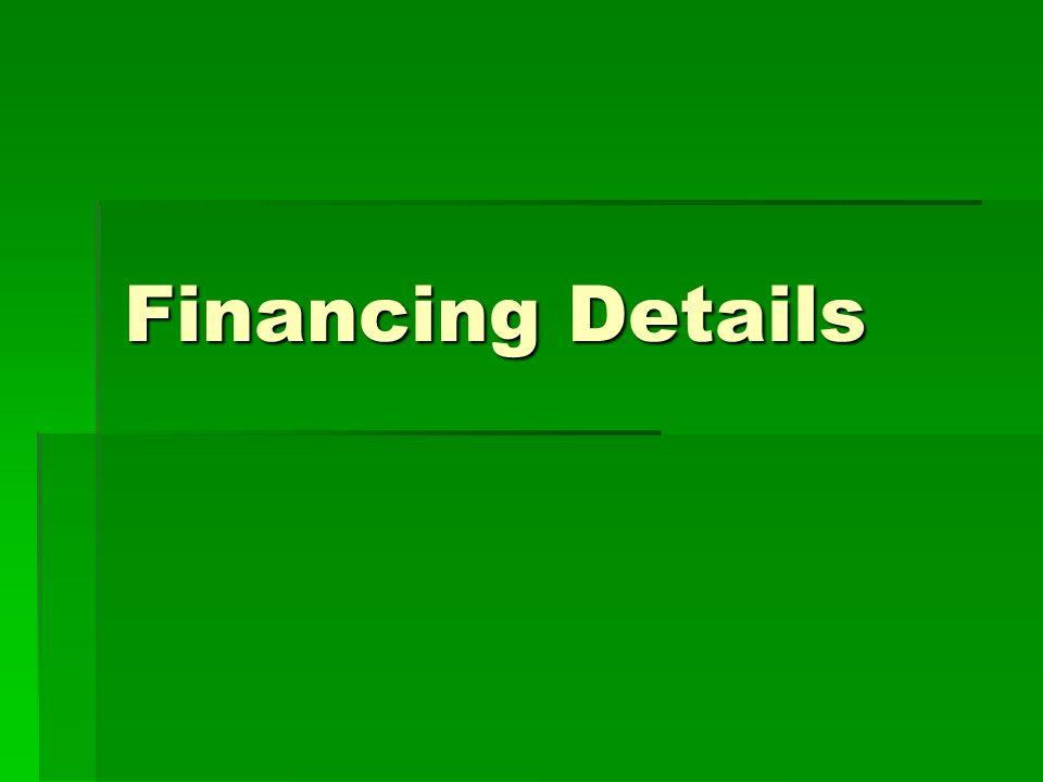 Financing Details