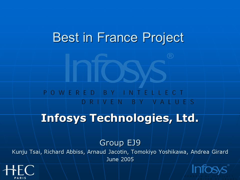 Best in France Project Infosys Technologies, Ltd.