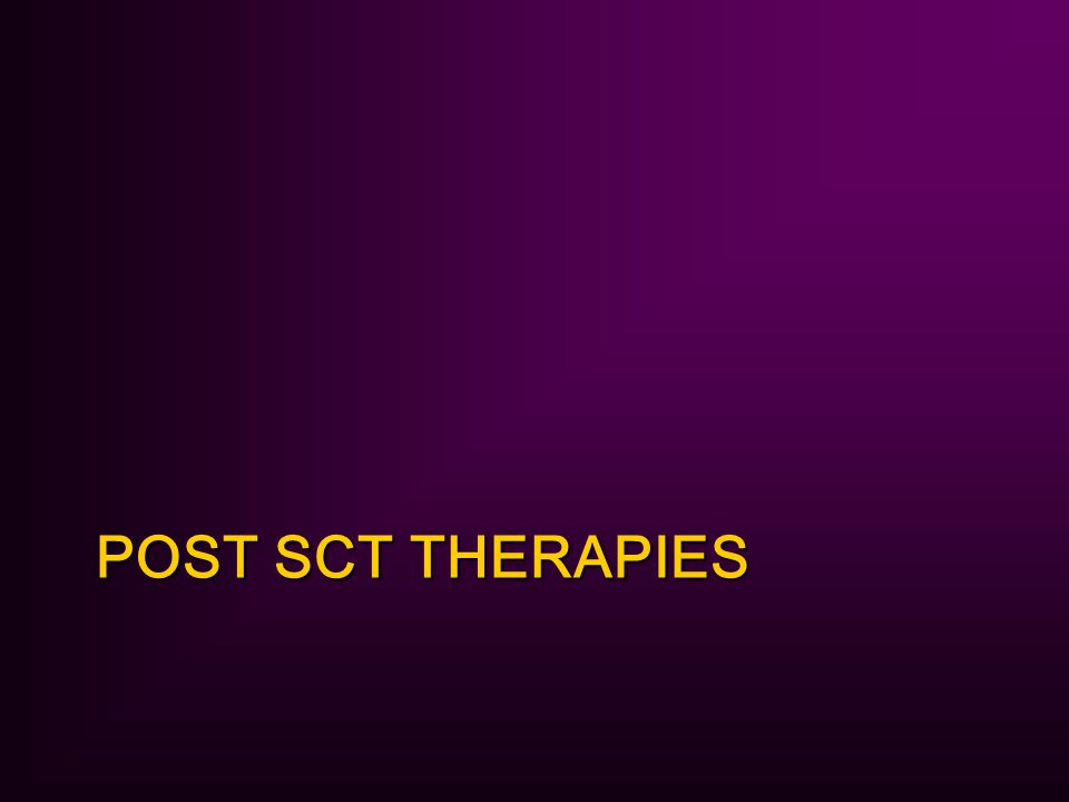 POST SCT THERAPIES