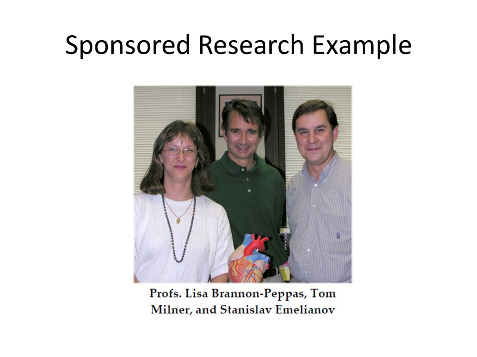 Sponsored Research Example