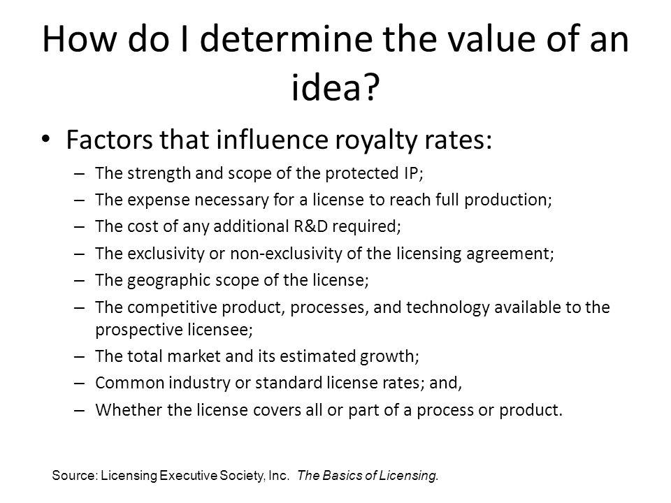 How do I determine the value of an idea.