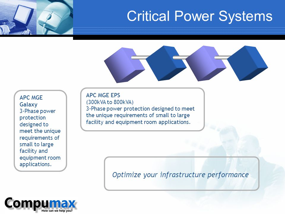 Critical Power Systems APC MGE Galaxy 3-Phase power protection designed to meet the unique requirements of small to large facility and equipment room