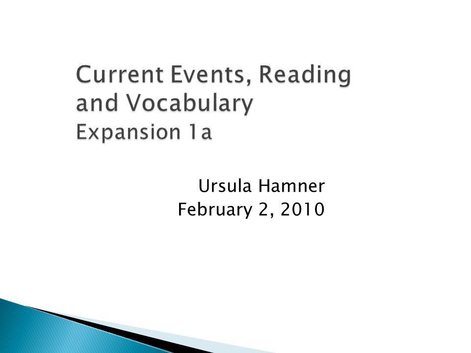 Ursula Hamner February 2, 2010