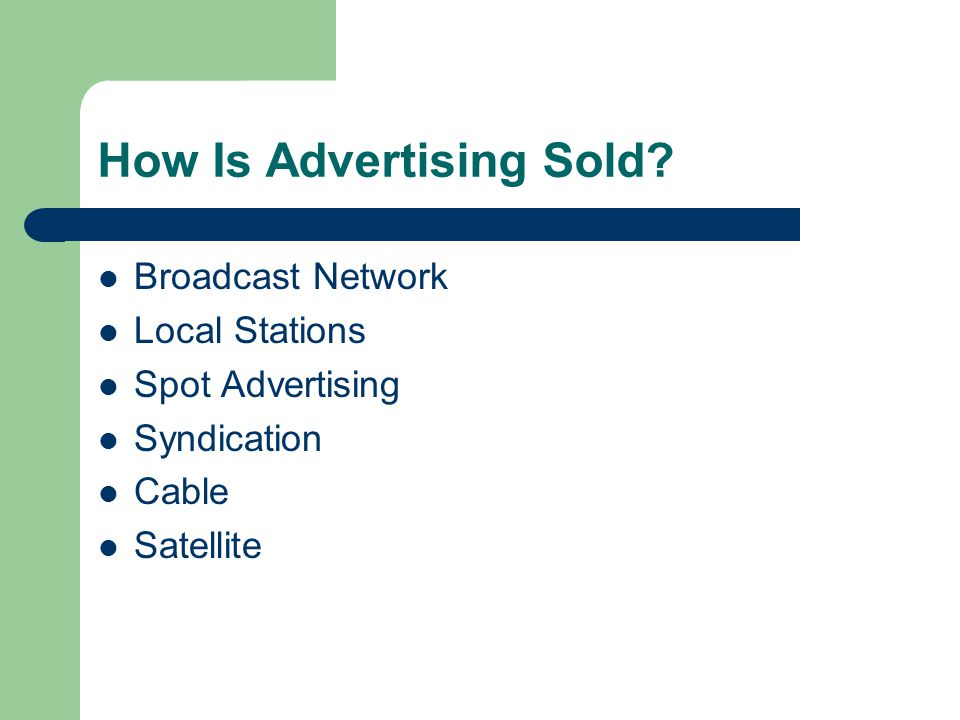 How Is Advertising Sold.