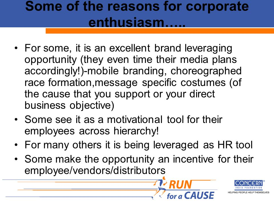 Some of the reasons for corporate enthusiasm…..