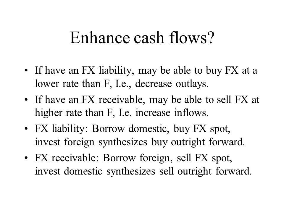 Enhance cash flows.