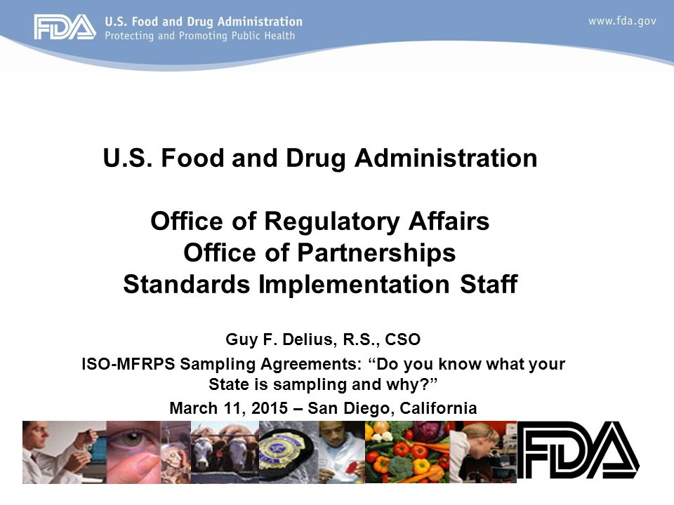 Upfront Guidance and Sampling Webinar December 2013 FDA provided a MFRPS national webinar on the topic of Sampling Agreements.