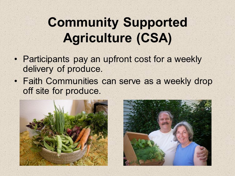 Fresh Food For All Raise money to purchase a CSA for a family who can not afford one.