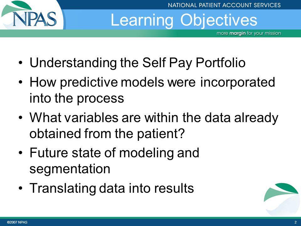 ©2007 NPAS32 Key Indicators Cont'd