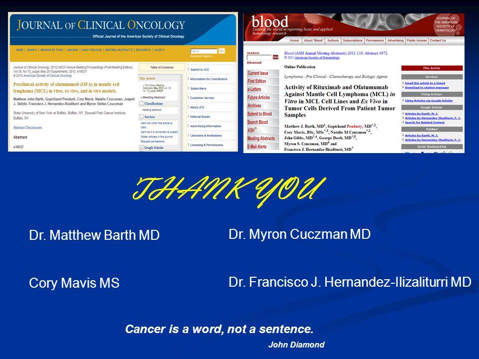 Dr. Matthew Barth MD Cory Mavis MS Dr. Myron Cuczman MD Dr.