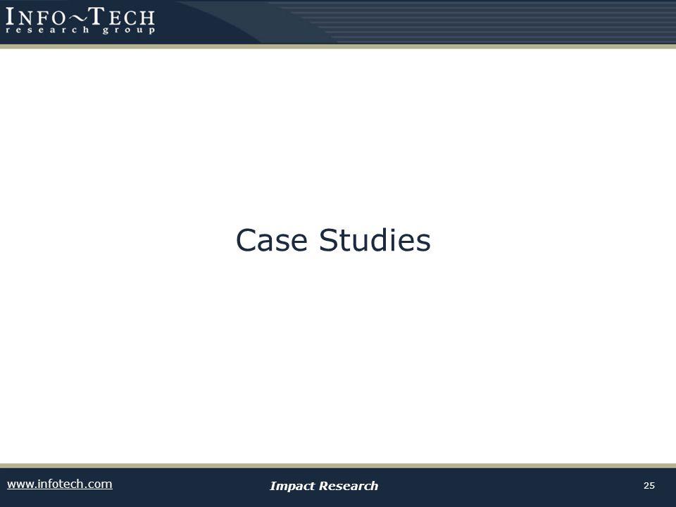 www.infotech.com Impact Research 25 Case Studies