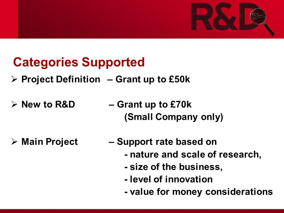 R&D Tax Credits  Grant for R&D is Notified State Aid  Grant for R&D + Large Scheme vs.