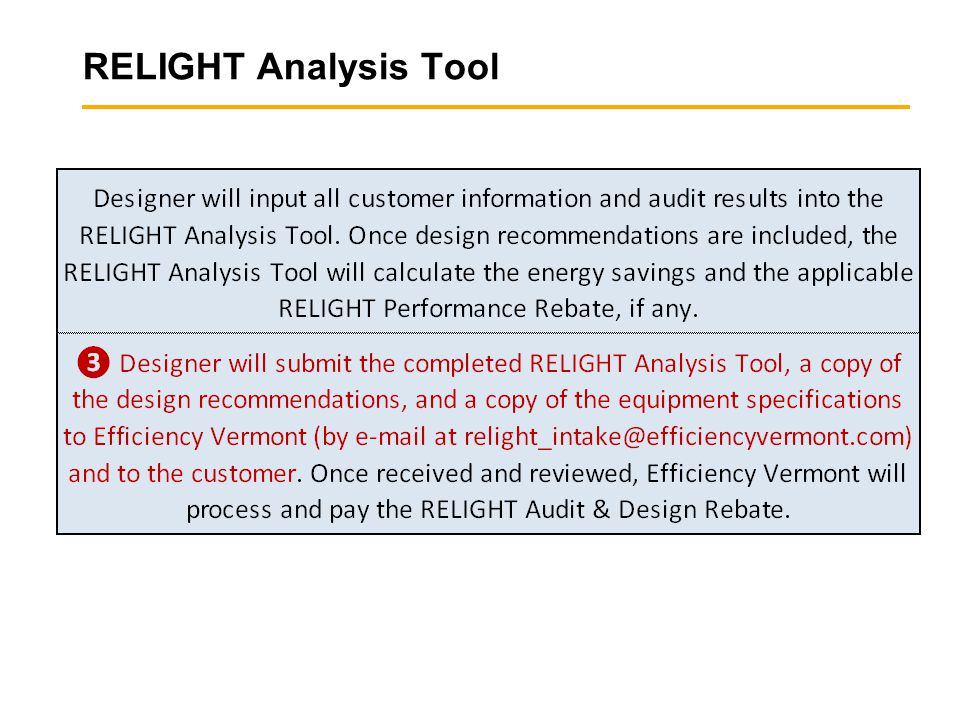 RELIGHT Analysis Tool