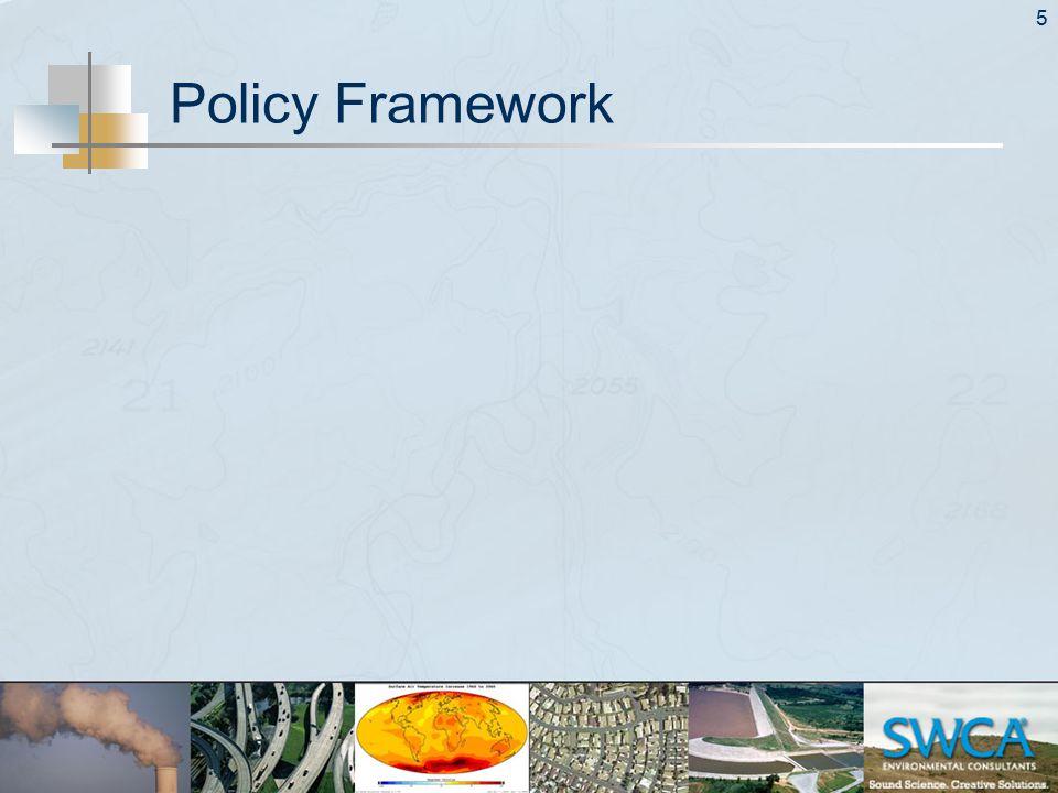 5 Policy Framework
