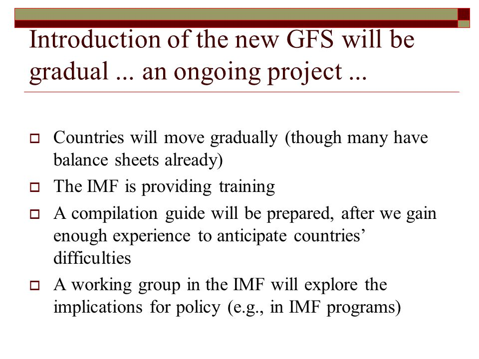 Introduction of the new GFS will be gradual... an ongoing project...