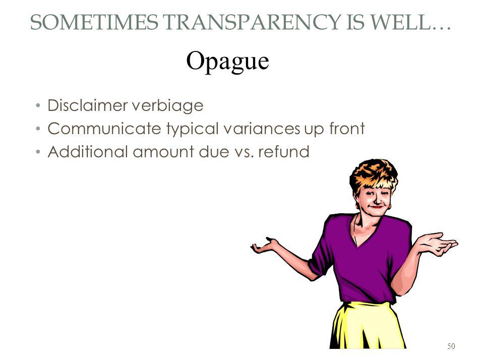 Transparency Gone Wild!
