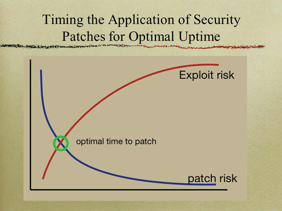 Timing the Application of Security Patches for Optimal Uptime