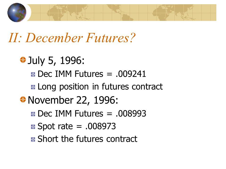 II: December Futures.