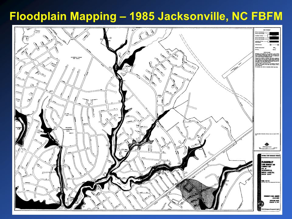 Floodplain Mapping – 1985 Jacksonville, NC FBFM