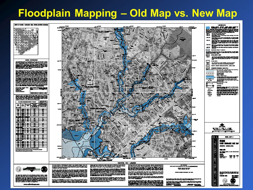 Floodplain Mapping – Old Map vs. New Map