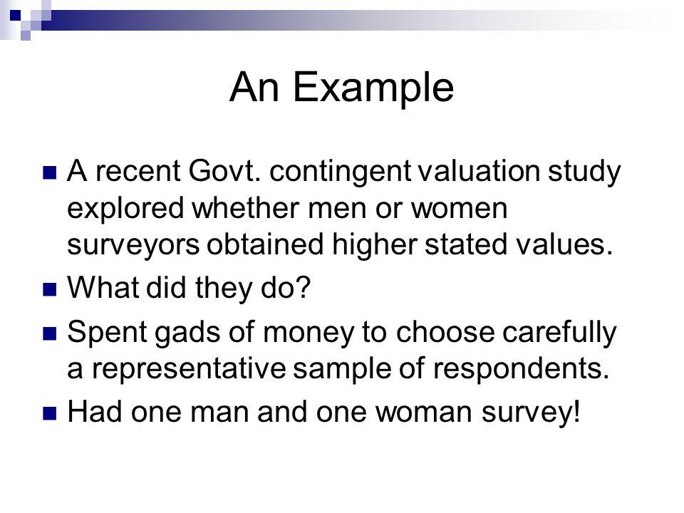 An Example A recent Govt.