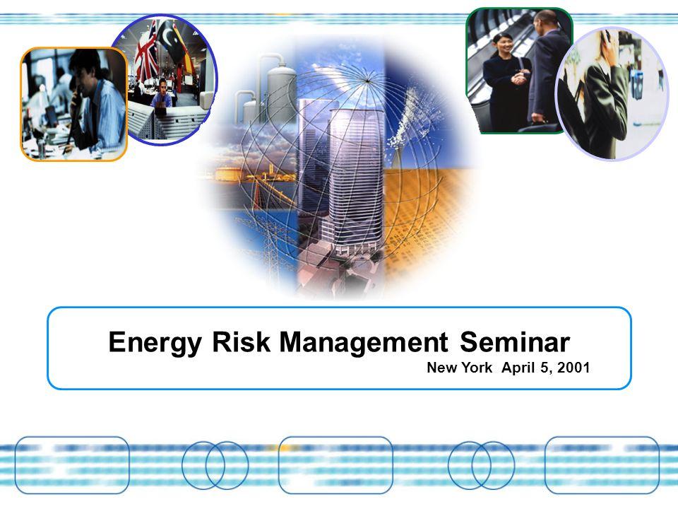 Energy Risk Management Seminar New York April 5, 2001