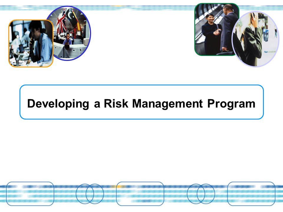 Developing a Risk Management Program