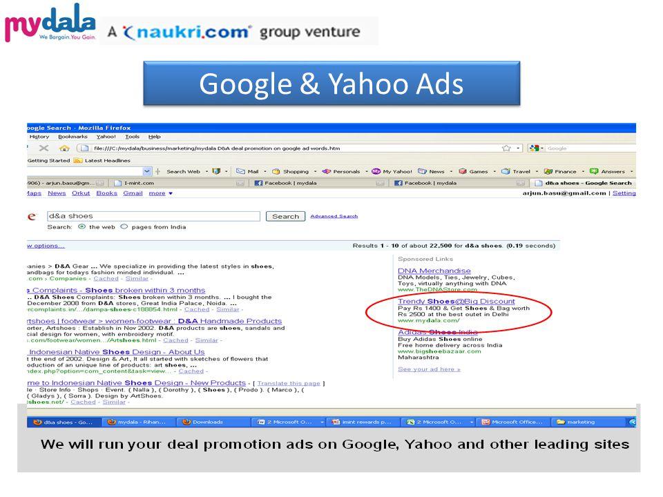 Google & Yahoo Ads