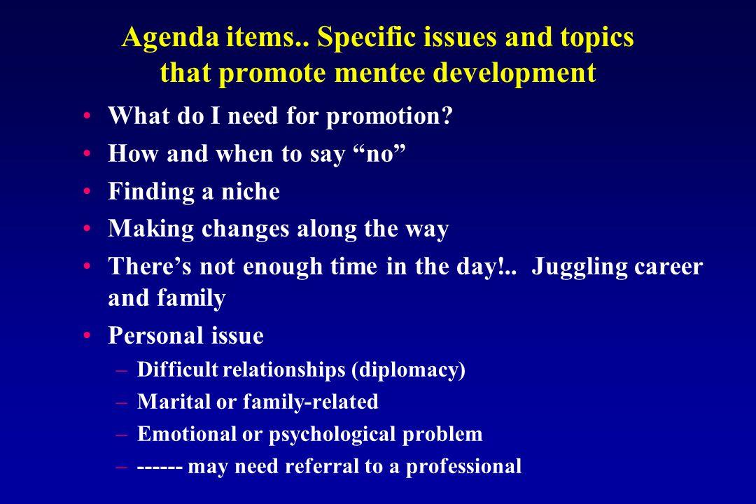 Agenda items..