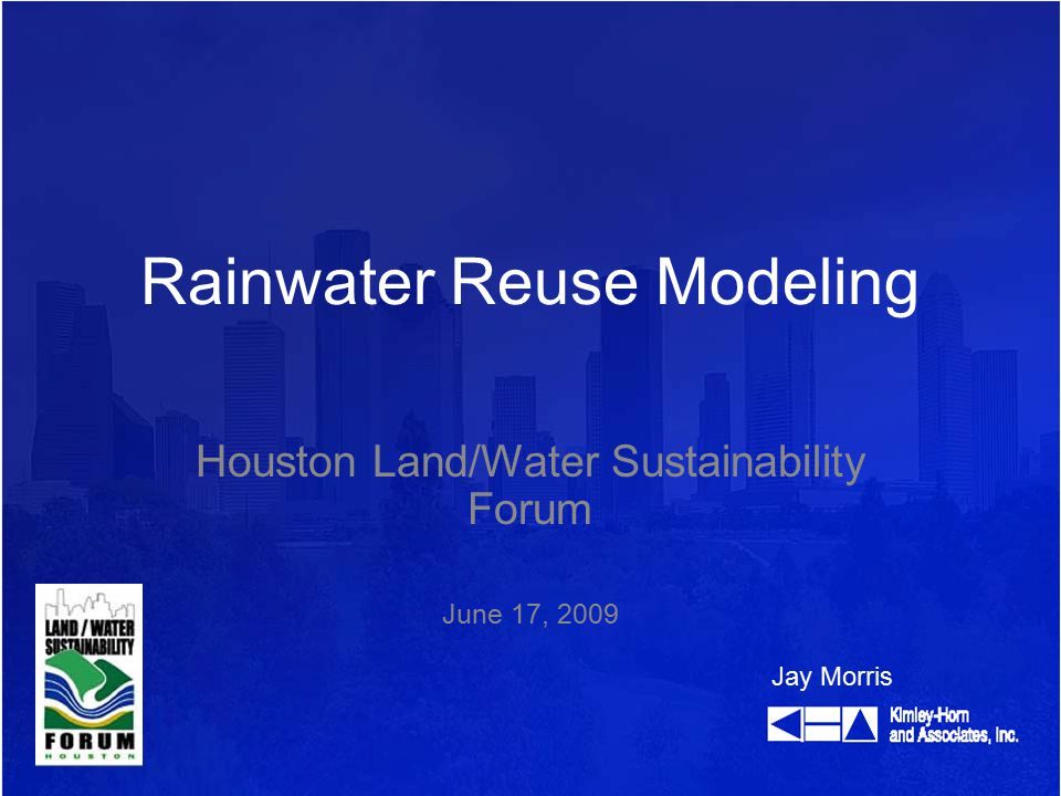 Introduction Goals Questions to Obtain Goals Rainwater Runoff Quantity Storage Volume Selecting Areas to Capture Rainfall Data – Supply Usage – Demand How Supply and Demand Affect a Model Return on Investment (ROI) Recap