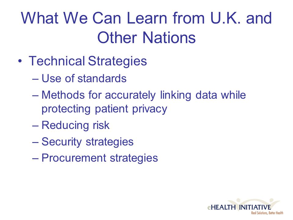 What We Can Learn from U.K.