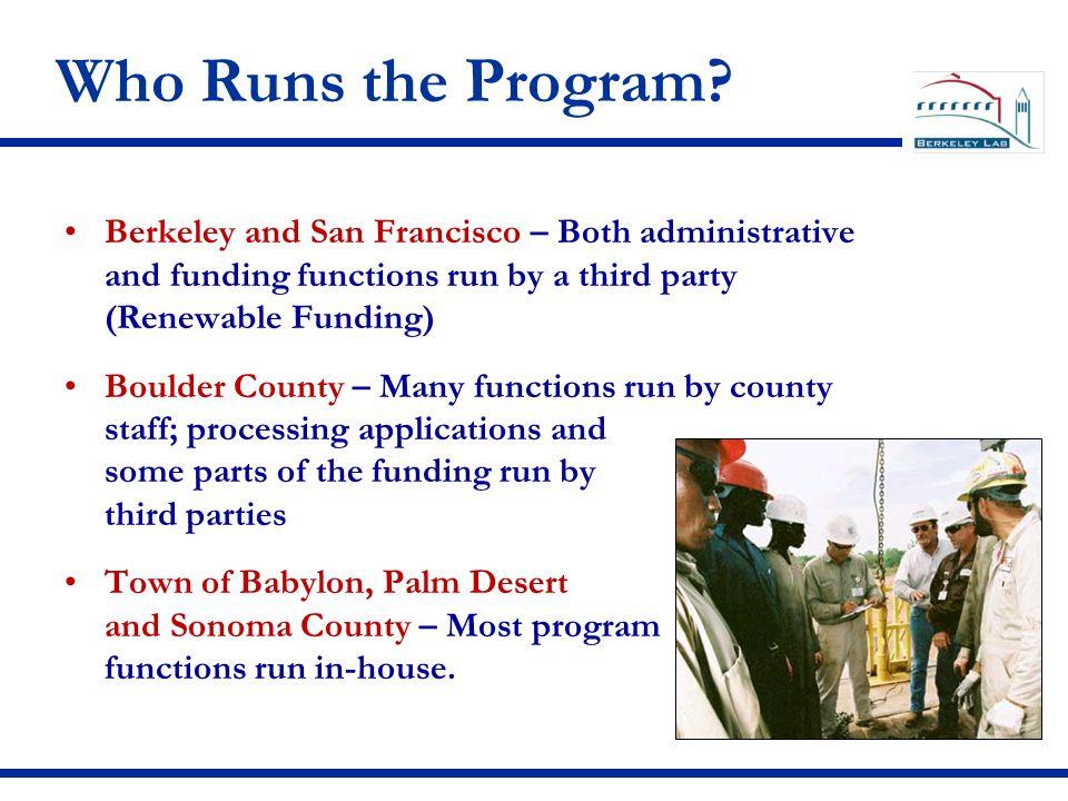 Who Runs the Program.