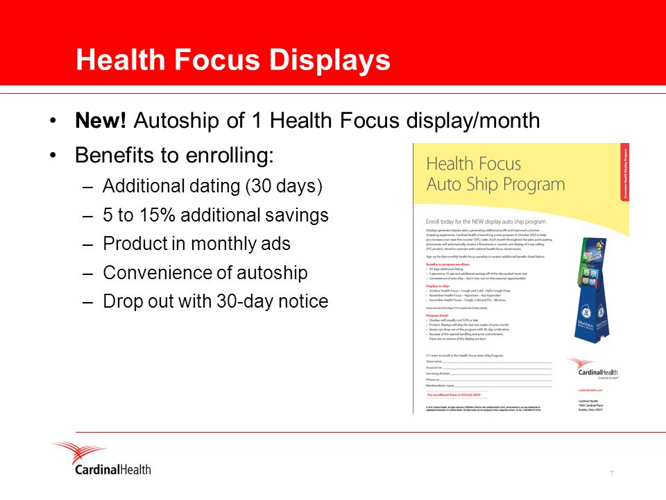 7 Health Focus Displays New.