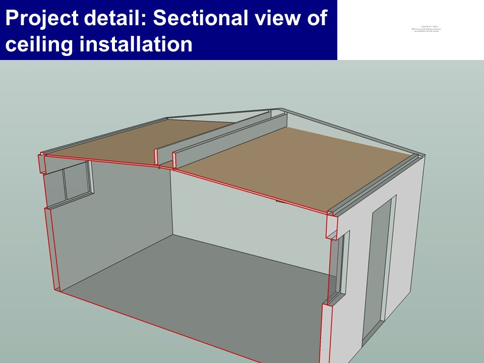9 Project detail: Sectional view of ceiling installation