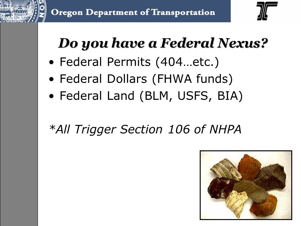 Do you have a Federal Nexus.