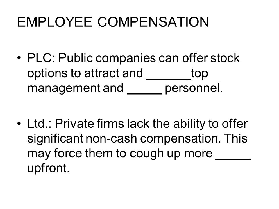 EMPLOYEE COMPENSATION PLC: Public companies can offer stock options to attract and ______ top management and _____ personnel.