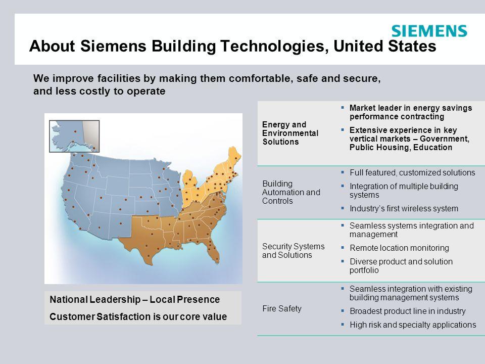 North Region Siemens Building Technologies U.S.