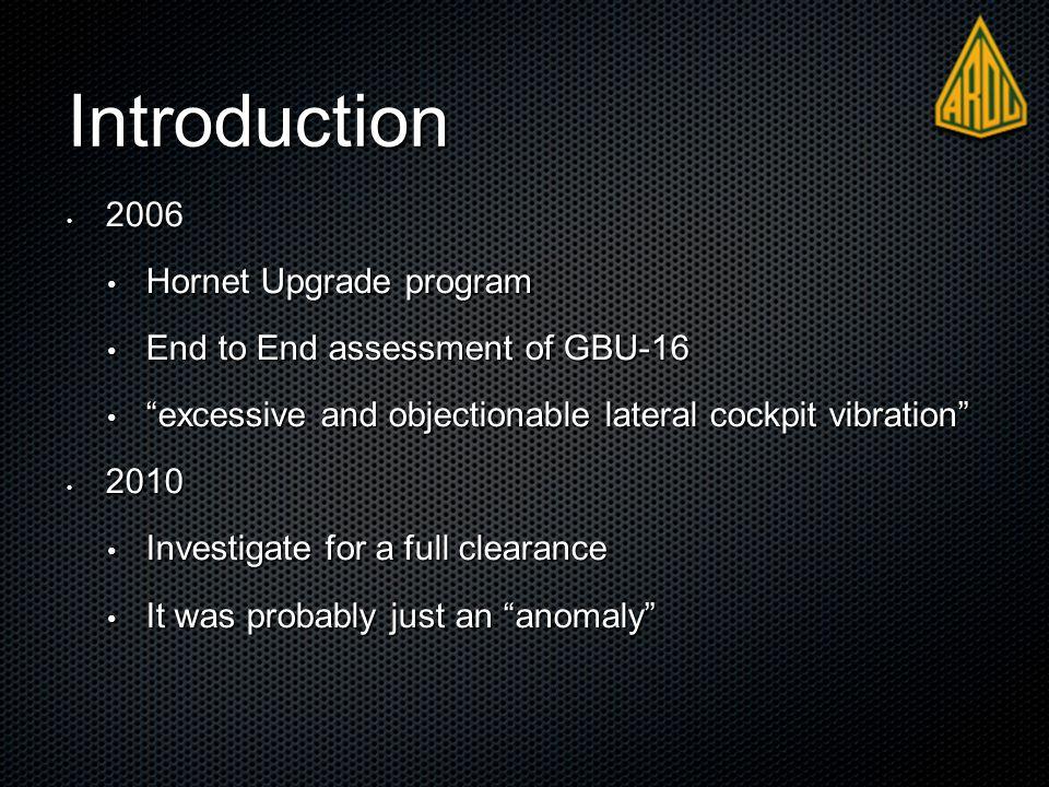 """Introduction 2006 2006 Hornet Upgrade program Hornet Upgrade program End to End assessment of GBU-16 End to End assessment of GBU-16 """"excessive and ob"""