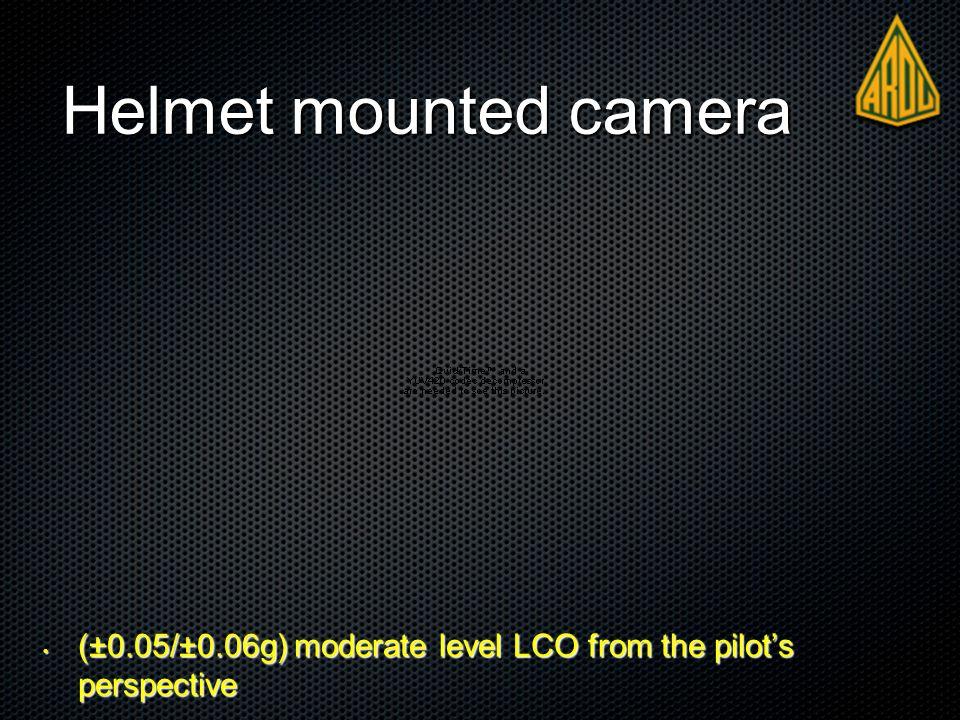 Helmet mounted camera (±0.05/±0.06g) moderate level LCO from the pilot's perspective (±0.05/±0.06g) moderate level LCO from the pilot's perspective
