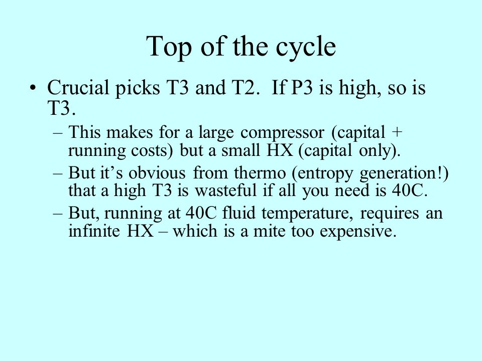 Top of the cycle Crucial picks T3 and T2. If P3 is high, so is T3.