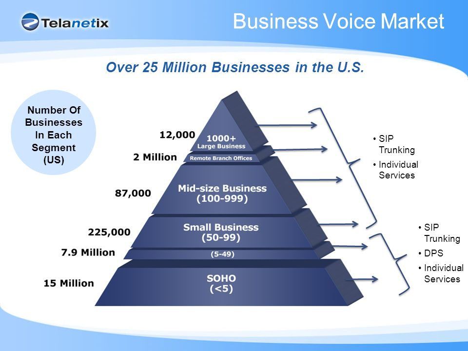 Business Voice Market Over 25 Million Businesses in the U.S.