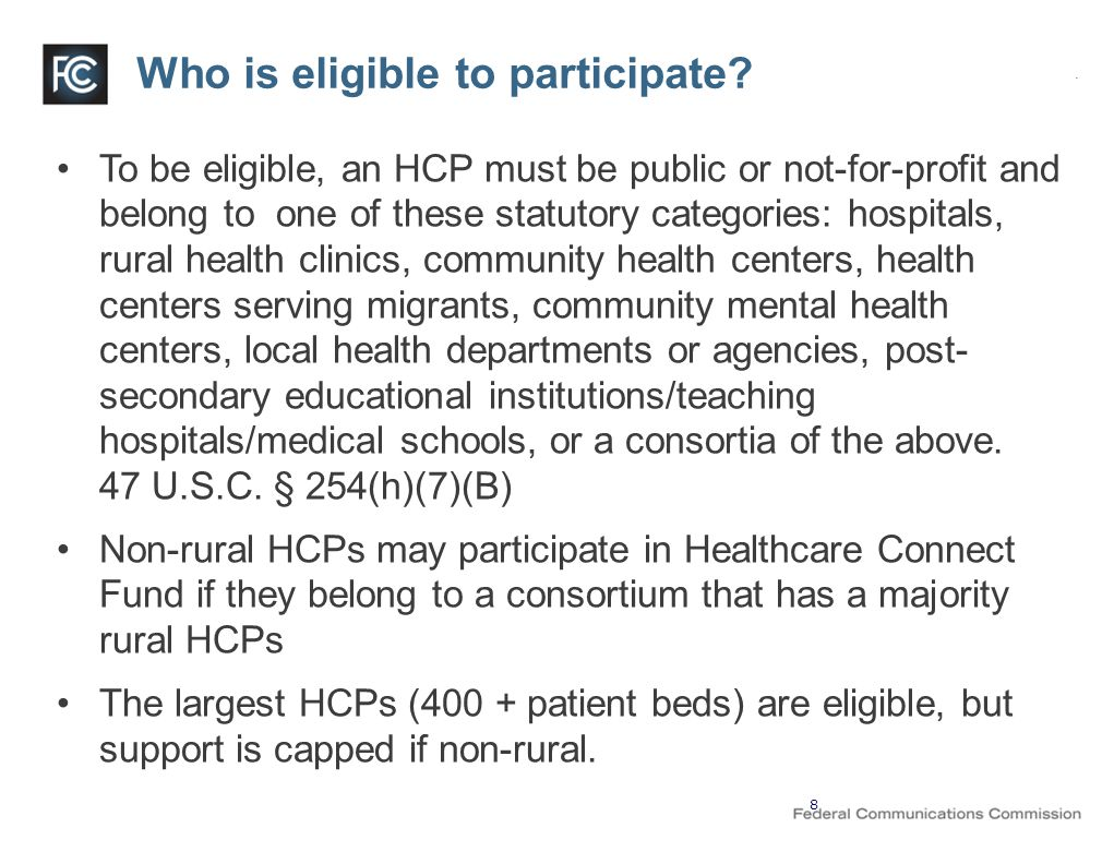 Who is eligible to participate.