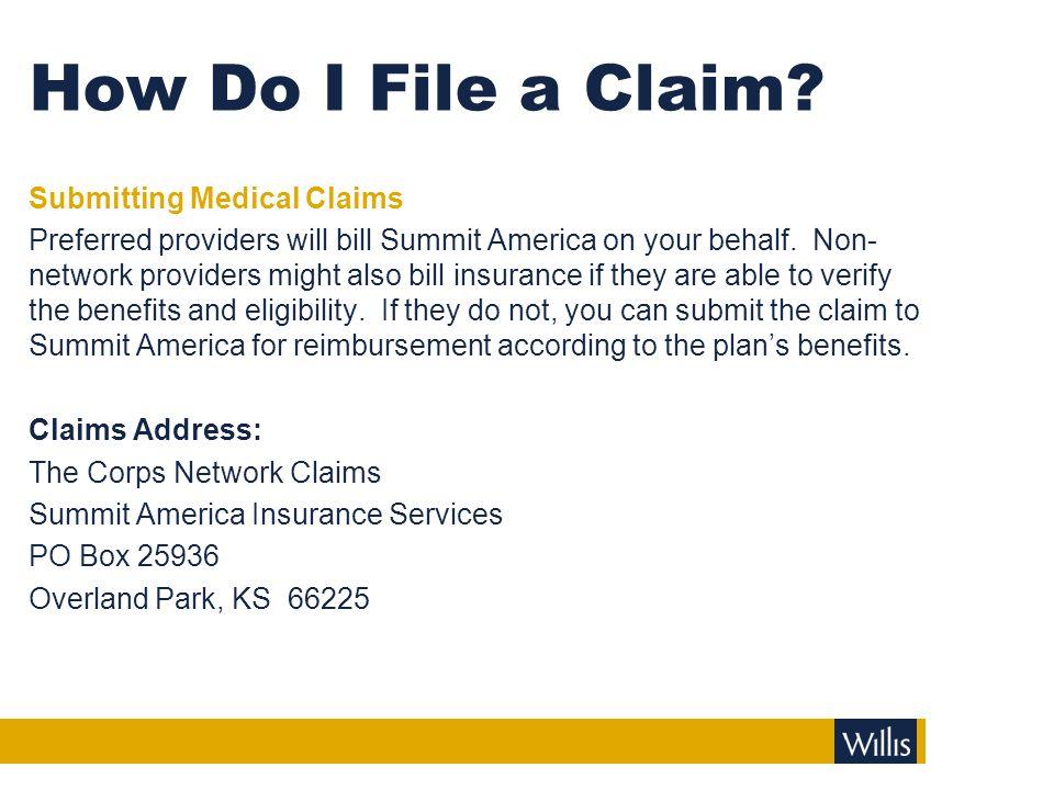 How Do I File a Claim.