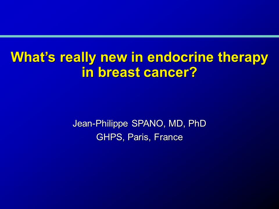 What's really new in endocrine therapy in breast cancer.