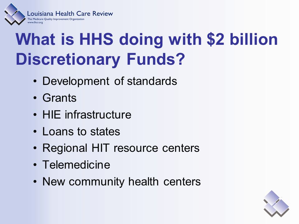 What is HHS doing with $2 billion Discretionary Funds.