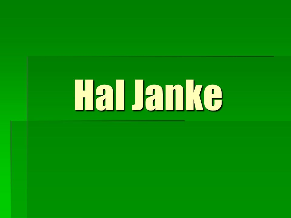 'The Best Way to Predict the Future is to Create It' Hal Janke, Pres., Certified Business Intermediary, specialist in selling automotive businesses.