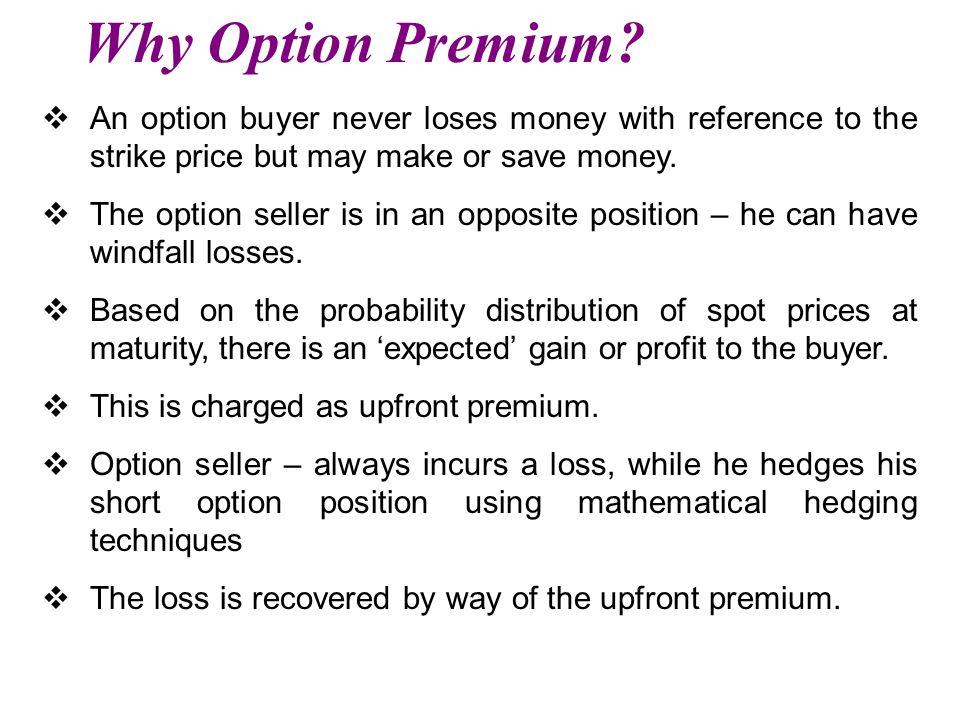 Why Option Premium.