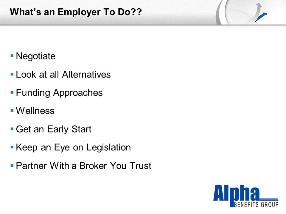 YOUR LOGO What's an Employer To Do .