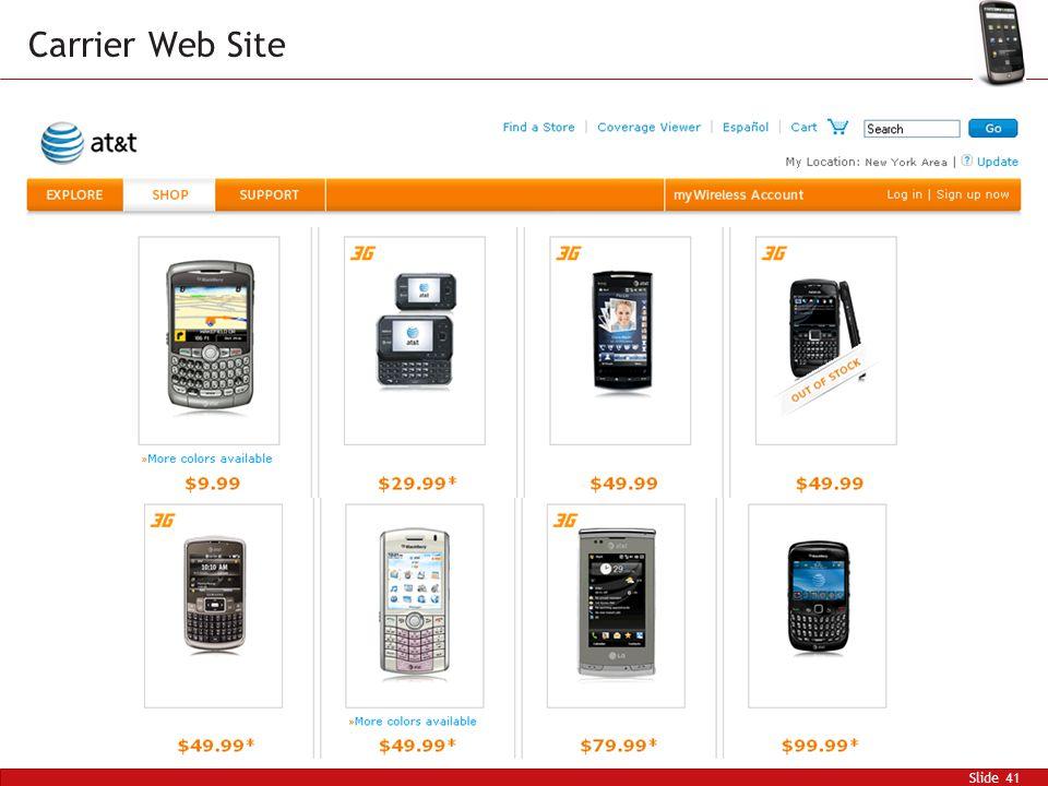 Slide 41 Carrier Web Site