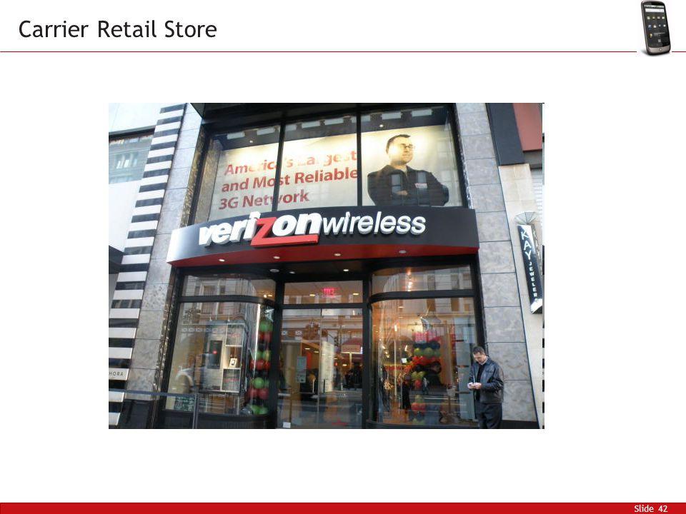 Slide 42 Carrier Retail Store